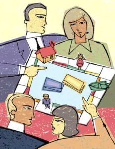 Divorce Abstract Across the table